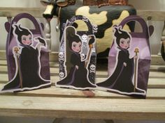 Maleficent Times Three Inspired Gable Favor Boxes Set por zbrown5, $14.40