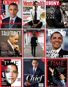 "goodnessgabriela: "" cinexphile: ""Collection of magazine covers featuring Barack Obama "" Bottom left tho 😍 "" Black Presidents, Greatest Presidents, American Presidents, American History, Mr Obama, Barack Obama Family, Obamas Family, First Black President, Mr President"