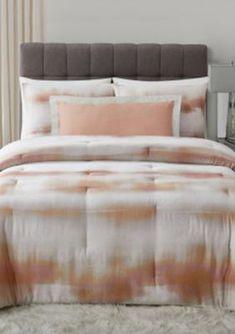Vince Camuto Como Comforter Set - White And Tan - Queen Full Size Comforter Sets, Twin Comforter Sets, King Duvet Cover Sets, Duvet Sets, Coral Bedding Sets, Weighted Comforter, Vince Camuto, Comforters
