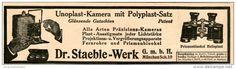 Original-Werbung/Inserat/ Anzeige 1913 - UNOPLAST-KAMERA/DR.STAEBLE-WERK MÜNCHEN ca. 185 x 40 mm