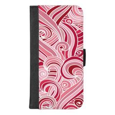 #pink - #Retro Swirls Pattern iPhone Wallet Case