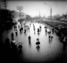A Photo Back Story# 6: Bicycles in Rain Dust, Hanoi, Vietnam.Of course this is Vietnam, so there's something more here.