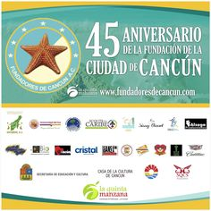 No te pierdas de esta grandiosa celebración ¡Cancún cumple 45 años! http://www.facebook.com/events/896157013777677/