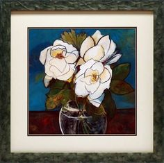 Crystal Magnolias by Connie Tunick Framed Painting Print