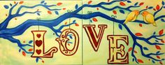 I PAINT HALF, YOU PAINT HALF.... Paint Love Bird Kisses (Date Night) Saturday September 19 at 7pm.