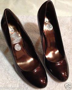 Joey Burgundy Brown Glittery Sparkly Womens Heels Size 10