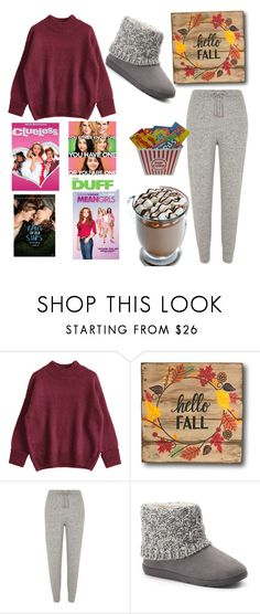 """""""Movie Night"""" by nerdyfashionista1010 ❤ liked on Polyvore featuring River Island and SONOMA Goods for Life"""
