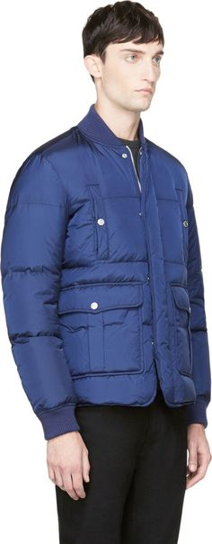 Dsquared2 Navy Down Bomber Jacket