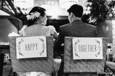 detalhe para a mesa dos noivos