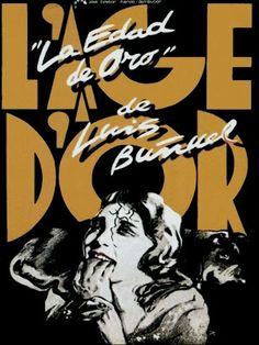 Cartel de Iván Zulueta para la reposinción, en 1983, de «La edad de oro» (L'age d'or, 1930, Luis Buñuel)