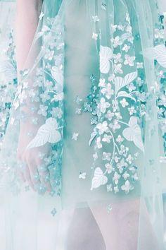soft blue // floral motifs // Delpozo Spring 2015