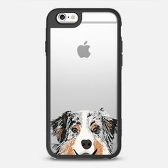 Australian Shepherd cute blue merle coat color cell phone case transparent iphone6 dog lovers pet portraits - New Standard Case.