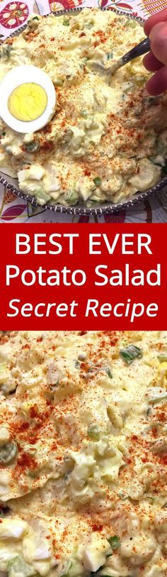 Potato Salad Recipe Ever Truly the best ever! Everyone loves this easy potato salad! My mouth is watering!Truly the best ever! Everyone loves this easy potato salad! My mouth is watering! Best Ever Potato Salad, Best Potato Salad Recipe, Creamy Potato Salad, Potato Salad With Egg, Potato Recipes, Instapot Potato Salad, Chicken Potato Salad, Classic Potato Salad, Keto Chicken