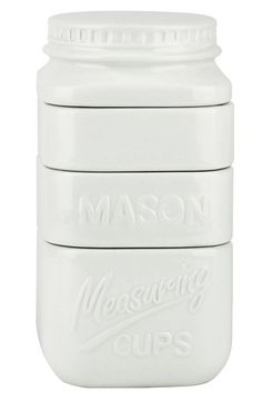 Barbuzzo 'Mason Jar' Stackable Ceramic Measuring Cups (Set of 4) available at #Nordstrom