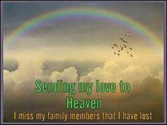 Missing my family members who are gone but never ever forgotten...Especially today I'm missing my dad...gone for 6 years today.... I love and miss you dad!!