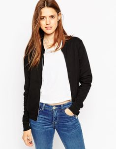 ASOS+The+Bomber+Jacket+In+Jersey+In+Cotton