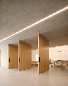 BauNetz.de - Bildergalerie German Architecture, Minimal Architecture, Architecture Design, Terrazzo, Kirchen Design, Minimal Design, Modern Design, Minimalism, Engineering