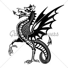 free dragon Silhouette Decoration   Medieval Dragon · GL Stock Images