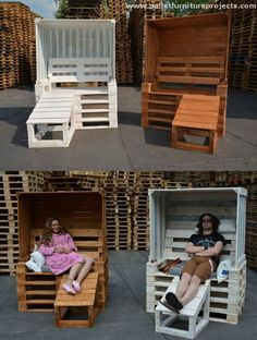 Amazing Wood Wood Pallet Strandkorbs, you can certainly make some modifications when you are recycling it with wooden pallet at your own.