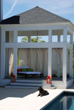 In love with this hottub arbor