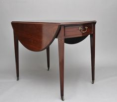 18th Century Mahogany Oval Pembroke Table - Antiques Atlas Pembroke Table, Georgian Furniture, Tea Caddy, Drawer Fronts, 18th Century, Drawers, The Originals, Antiques, Storage