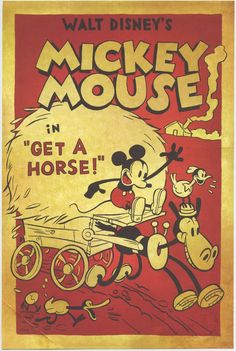 Disney Get A Horse Commemorative Print for 2013 Mickey Mouse cartoon