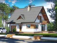 100 M2, Home Fashion, House Plans, Outdoor Structures, House Design, Cabin, House Styles, Home Decor, Dream Homes