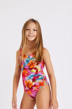 M Baloo Sunrise pink one-piece swimsuit | Banana Moon® Sporty Chic, Kids Swimwear, Swimsuits, Dance Moms Dancers, Girls One Piece Swimsuit, Vogue, Pink One Piece, Moon Child, Summer Collection