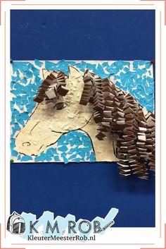 Groepswerk - A3 - Sitspapier scheuren en plakken - muizentrapjes Craft Activities For Kids, Preschool Crafts, Projects For Kids, Diy For Kids, Art Projects, Crafts For Kids, Arts And Crafts, Farm Crafts, Horse Crafts