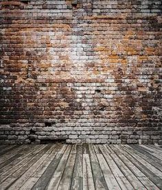 Photography Backdrops Wood Brick Wall With Yellow Words Background Fz1 Photo Studio Mh-28