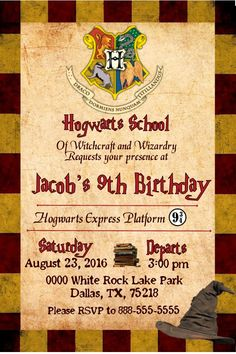 Harry Potter Birthday Party Invitations Printable was perfect invitations template