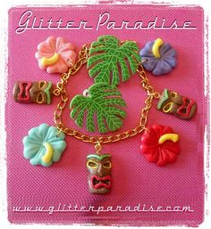 Tiki & Hibiscus Bracelet & Leaf Earrings  Available at  http://ift.tt/KWfwca  Handcrafted  in Francewith Love  since 2008 Glitter Paradise Do not copy do not reproduce.  #GlitterParadise #Jewelry  #HandmadewithLove #pinupaccessorries #pinupstyle #PinupJewelry #RetroPinup #Tikis #vintageexotica #pinupfashion #PalmLeafEarrings #Tiki #totemjewelry #totem #TikiJewelry #PalmLeaf #PalmJewelry #tikiaccessories #tikiearrings #instajewelry #tikinecklace #ExoticaJewelry #Exotica #tropicaljewelry…