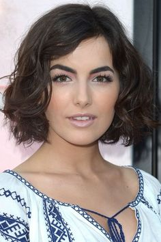 Camilla Belle's recently snipped chin-length wavy bob is our new favorite iteration of the Karlie Kloss. It's so thick and voluminous, and frames her face perfectly.
