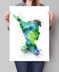 Peter Pan aquarelle impression, Claudine Nursery décor, aquarelle Art, décoration bébé, enfants Art, Art mural Disney, affiche Disney, Disney - Art, Art mural, Home Decor, Art Print, affiche, Illustration, dessin, peinture, aquarelle, illustration, FineArtCenter ------------------------------------------------------------------------------------------------ Tailles disponibles sont indiquées dans la sélectionner un taille le menu déroulant au-dessus du bouton Ajouter au panier…