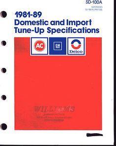 1981-89 DOMESTIC AND IMPORT TUNE-UP SPECS SD-100A