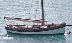 EDITH GRAY was designed and built in 2011 by John Raymond-Barker of RB Boatbuilding Ltd, Bristol Sailboat Yacht, Yacht Boat, Yacht For Sale, Boats For Sale, Model Sailboats, Bristol Channel, Boating Holidays, Classic Wooden Boats, Classic Sailing