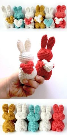 Mesmerizing Crochet an Amigurumi Rabbit Ideas. Lovely Crochet an Amigurumi Rabbit Ideas. Holiday Crochet, Easter Crochet, Crochet Gifts, Crochet Dolls, Baby Knitting Patterns, Amigurumi Patterns, Crochet Patterns, Crochet Motif, Crochet Yarn