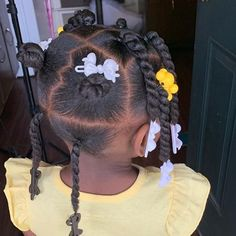 Black Baby Hairstyles, Toddler Braided Hairstyles, Girls Natural Hairstyles, Natural Hairstyles For Kids, Mixed Girl Hairstyles, Ponytail Hairstyles, Natural Hair Braids, Natural Hair Styles, Braids For Kids