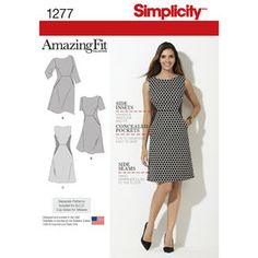 Simplicity Pattern 1277 Misses' and Miss Plus Amazing Fit Dress