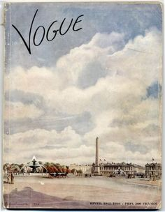 Vogue Paris cover from 1945 — Place de la Concorde, by C. Serebriakova