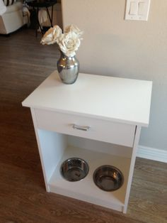 Pet feeding station for dogs/ cats by MGDS2013 on Etsy, $150.00