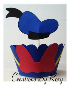 Donald Duck INSPIRED Cup cake picks & wrappers by CreationsbyRoxy