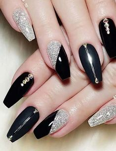 Nude 2019 Nail art design with stone . - Nude 2019 Nail art design with stone. , Nude 2019 Nail art design with stone . - Nude 2019 Nail art design with stones # Acryl # Nail - Nail Art Designs, Black Nail Designs, Acrylic Nail Designs, Acrylic Art, Acrylic Nails, Bridal Nail Art, Nail Wedding, Black Nail Art, White Nails