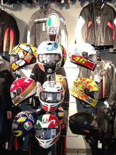 We recently got in a shipment of AGV Helmets. Great helmets with amazing designs.