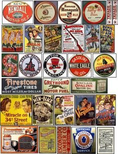 Signs and Graphics for your Model Railroad Vintage Tins, Vintage Labels, Vintage Posters, Vintage Stuff, Vintage Cards, Advertising Signs, Vintage Advertisements, Decoupage, Historical Artifacts