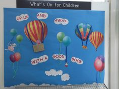 Up and away with a good book display at Jesmond Library