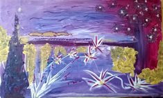 Violet painting~ Arylic on canvas #paint #ultraviolet #pantone2018 #newyear #christmas #paintnite