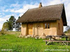 This straw bale cottage was built in Poland by Paulina of Earth Hands and Houses. To build a tiny home like this would cost about £10,000 (15,000 USD) in materials. Find out more at www.naturalhomes.org/timeline/earthhands-strawbale.htm