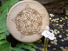 Celtic Pentacle Altar Tile by TheWhimsicalPixie11 on Etsy, $20.99