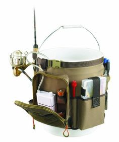 Wild River by CLC WL3506 Tackle Tek Rigger Lighted Bucket Organizer with Plier Holder and Retractable Lanyard, 5-Gallon by Custom Leathercraft